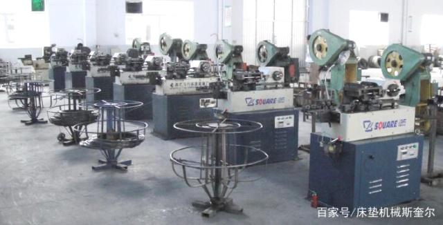 S shape spring machine in customers' factory