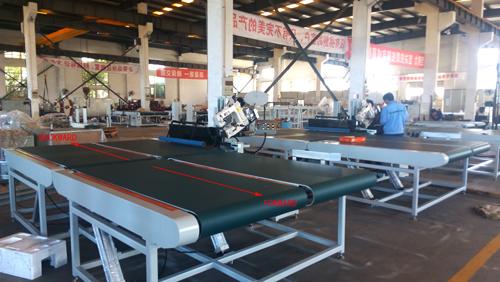 mattress tape edge machine belt forward and backward testing