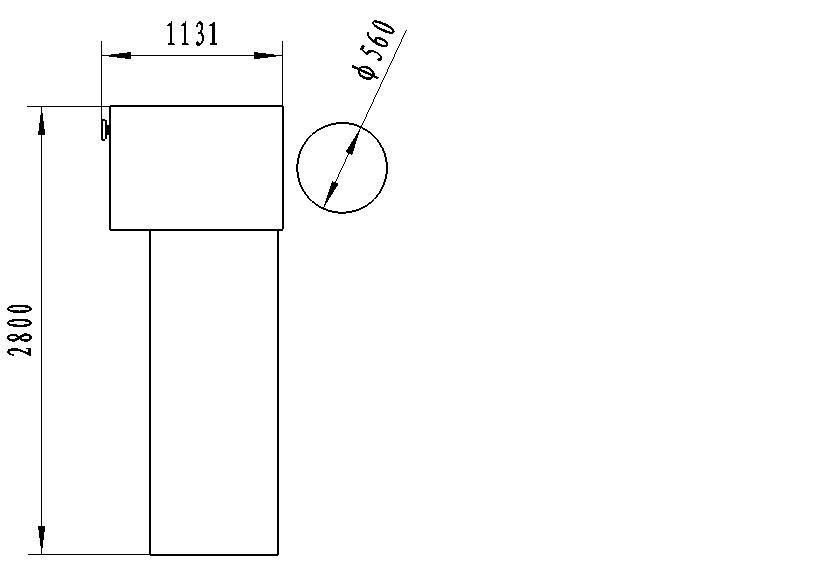 SKB double serging machine layout size